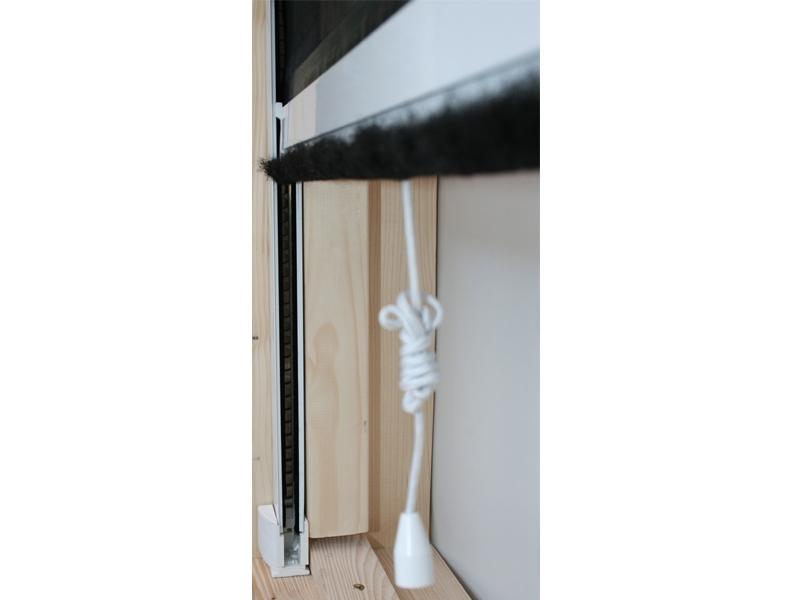 fliegengitter insektenschutzrollo alu bausatz f r fenster bis 130x160cm rahmenfarbe wei. Black Bedroom Furniture Sets. Home Design Ideas